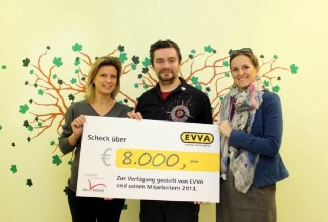 Scheckübergabe Firma EVVA 2014