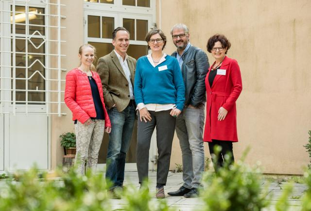 vlnr: Mag. Johanna Zimmerl, Univ.-Prof. DDr. Martin Grassberger, Mag. Hedwig Wölfl. DSA Horst Wolfger, Mag. Annelies Strolz
